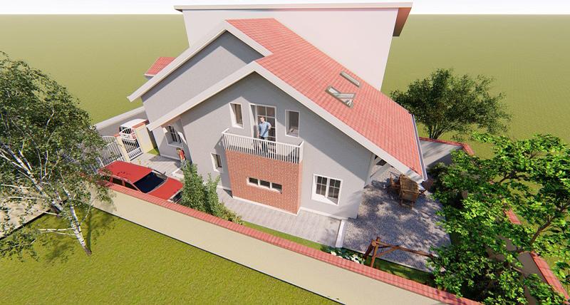 ROSE HOUSE: Subsol + Parter + Mansardă