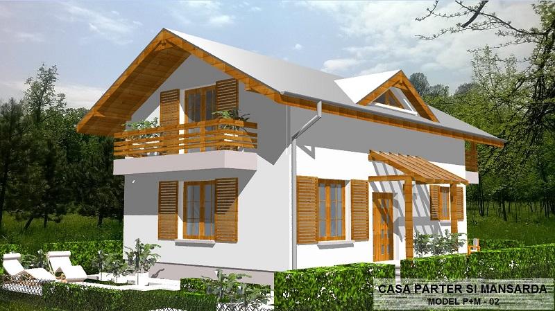 RUSTIC HOUSE 2: Parter + Mansardă
